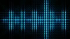 VU Meter Mini Dot Grid Stock Footage