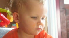 Two year old boy Stock Footage