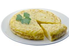 spanish omelette - stock photo