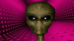 Alien creature close up Stock Footage