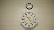 Indoor Lap Swimming Pool Clock Sits Below Time Clock Stock Video Stock Footage