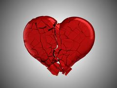 Hurt and pain. red broken heart Stock Illustration