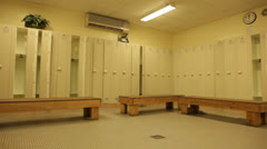 View of Empty Locker Room Stock Video Stock Footage