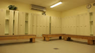 Stock Video Footage of View of Empty Locker Room Stock Video