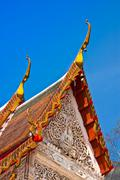 thai temple. - stock photo