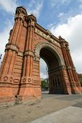 Arco del triunfo barcelona triumph arch arc de triomf Stock Photos