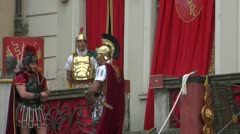 Roman legionaries 05 Stock Footage