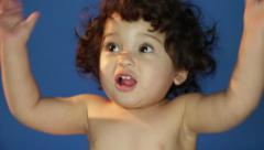Cute Dance of a Cute Hispanic Latino Baby Girl Stock Footage