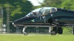 Hawk Black Taxiing Southend Airport Stock Footage