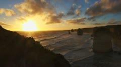 Twelve apostles sunset 60fps Stock Footage