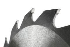 isolated circular saw closeup - stock photo