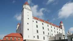 Stary Hrad - ancient castle in Bratislava, Slovakia Stock Footage