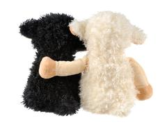 two cute stuffed animals - stock photo