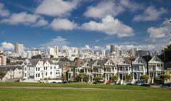 san francisco, usa - november 1, 2012: painted ladies in san francisco - stock photo
