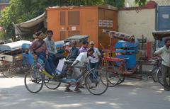 Stock Photo of Old rickshaw in Delhi