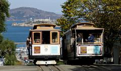 San francisco - november 2012: the cable car tram, november 2nd, 2012 Stock Photos