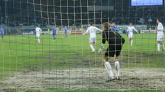 Goalkeeper's movement Stock Footage