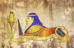 sphinx - mythical creature of ancient egypt - stock illustration