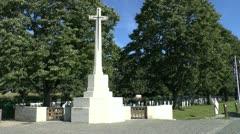 Col John McCrae & the Essex Farm Cemetery, Ieper, Belgium Stock Footage