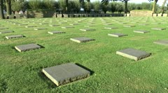 The German Langemark war cemetery, Langemark, Belgium Stock Footage