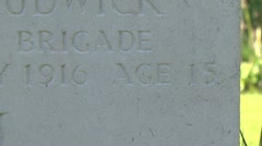 Rifleman VJ Strudwick headstone & the Essex Farm Cemetery, Ieper, Belgium Stock Footage