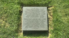 Gravestone in the German Langemark war cemetery, Langemark, Belgium Stock Footage