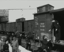 World War 2 - Loaded Train - stock footage