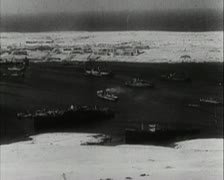 World War 2 - Aereal View Stock Footage