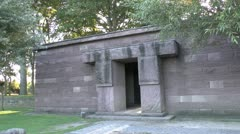 Entrance block to the German Langemark war cemetery, Langemark, Belgium Stock Footage