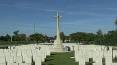 Capt Noel Chavasse VC & the Brandhoek New Military Cemetery, Belgium - stock footage