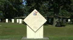 Col John McCrae Memorial & the Essex Farm Cemetery, Ieper, Belgium Stock Footage