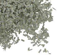 money scattering. us dollar bundles falling - stock illustration