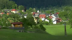 Austria Europe Germany Countryside Drive By Scenic Outdoor Nature Shot Of Grass  Stock Footage