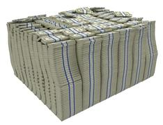 Much money. large stack of us dollars Stock Illustration