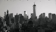 View of Rainy New York City Through Wet Glass and Freedom Tower Stock Video Stock Footage