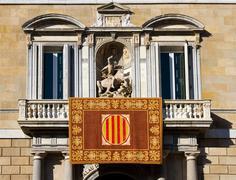 palau de la generalitat de catalunya - stock photo