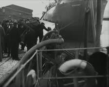 World War 2 - Ship Entering Stock Footage