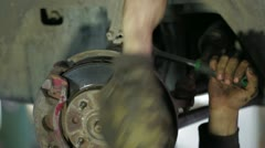 Car Clutch Dismantling - stock footage