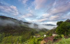 asturias mountains landscape - stock photo