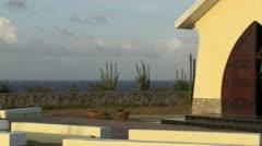 Aruba's Alta Vista Chapel Exterior Stock Footage