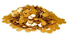 Earnings. heap of golden coins isolated Stock Illustration