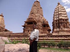 Lakshmana Temple 2 : A UNESCO world heritage site - stock photo