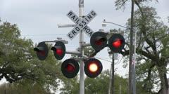 Flashing RR crossing Stock Footage