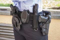police belt - stock photo