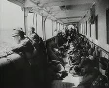 World War 2 - Harbor Discharge Stock Footage