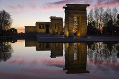 temple of debod - stock photo