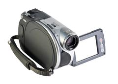 Video camera with a white screen Stock Photos