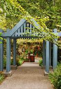 botanical garden path - stock photo