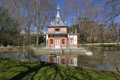 glorieta de sevilla in the buen retiro park madrid, spain. - stock photo