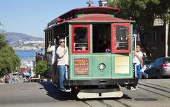 San francisco - november 2012: the cable car tram, november 3rd, 2012 Stock Photos